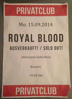 Royal-Blood-Privtaclub- 15-09-2014-poster